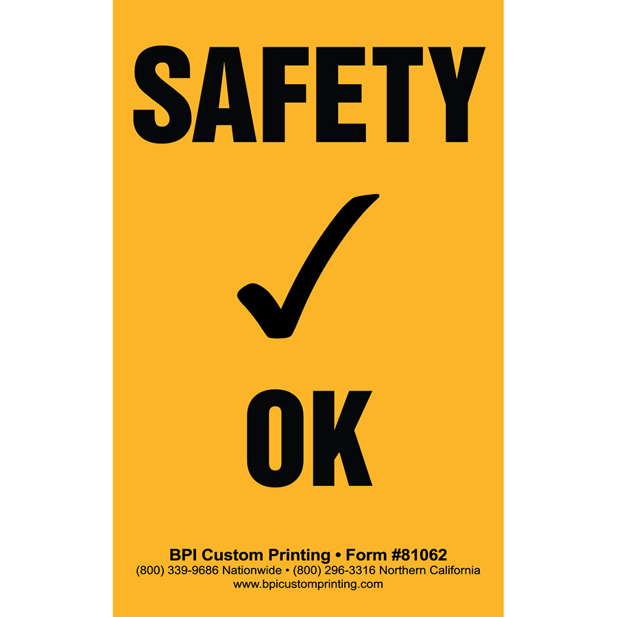 License Plate Holders >> Safety Check OK Stickers - BPI Dealer Supplies