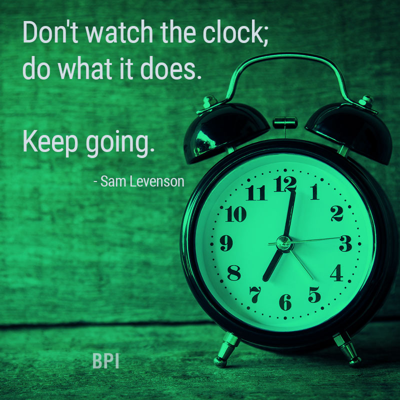 BPI Motivational Monday - Keep Going!
