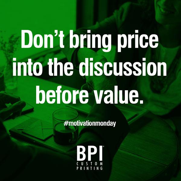 Value-Price Motivational From BPI Dealer Supplies